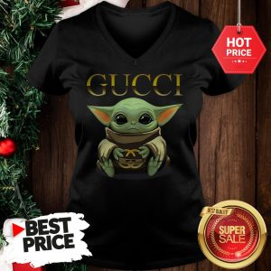 Like Baby Yoda Hug Gucci V-Neck