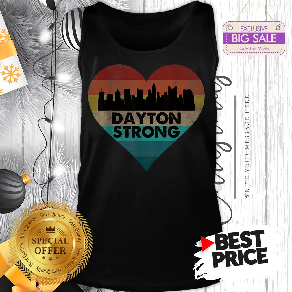Lovely Love Dayton Strong Ohio Heart Vintage Tank Top