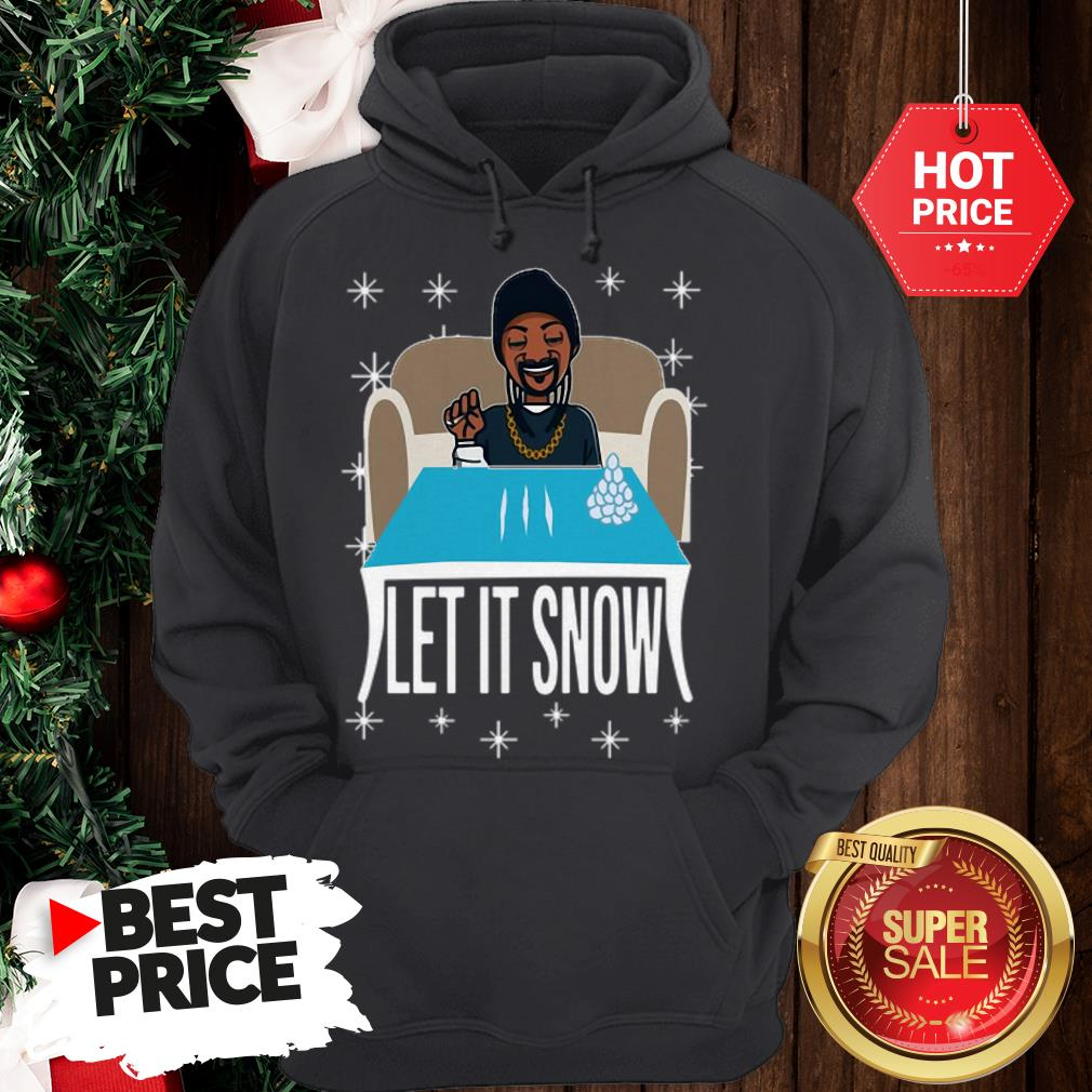 Lovely Snoop Dogg Walmart Cocaine Santa Let It Snow Hoodie