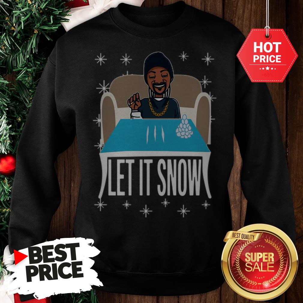 Lovely Snoop Dogg Walmart Cocaine Santa Let It Snow Sweatshirt