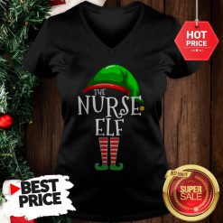 Nice Cute The Nurse ELF Christmas V-Neck
