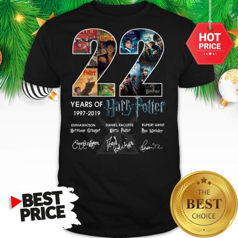 Official 22 Years Of 1997 2019 Harry Potter Thank You For The Memories Shirt