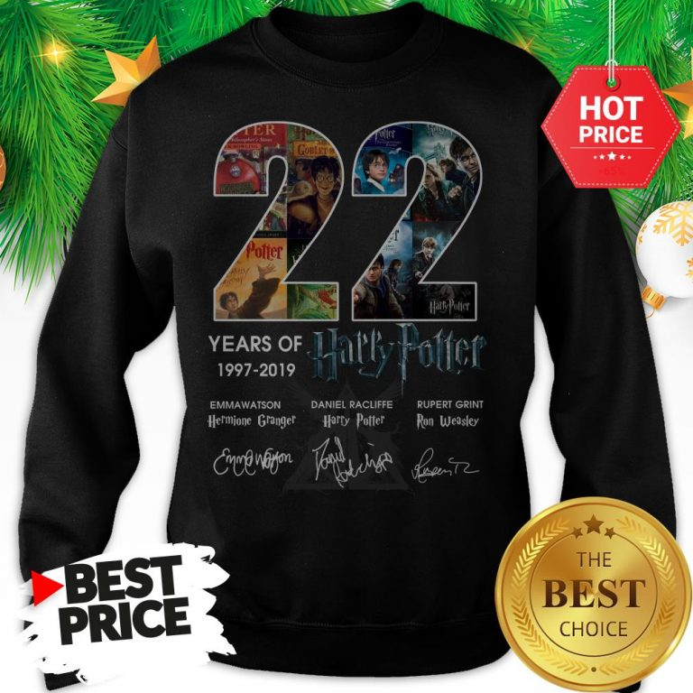 Official 22 Years Of 1997 2019 Harry Potter Thank You For The Memories Sweatshirt