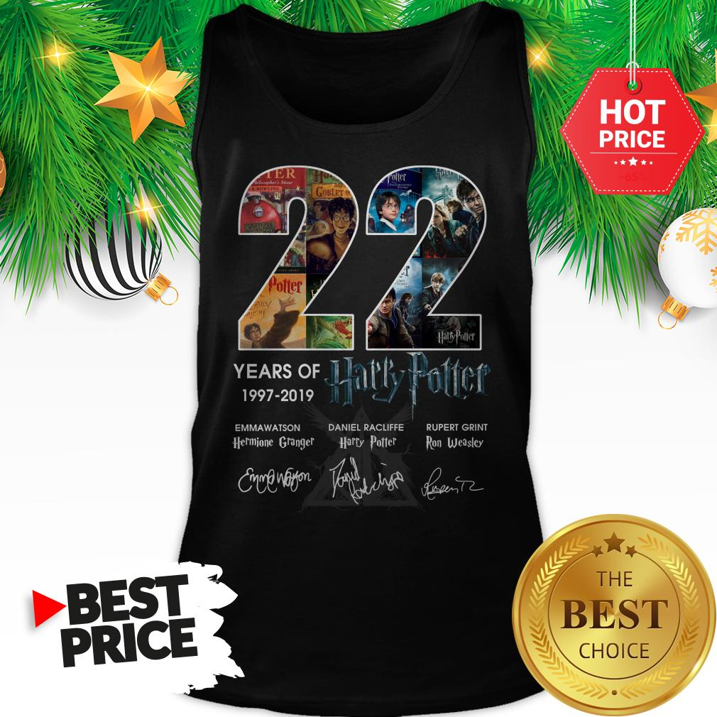 Official 22 Years Of 1997 2019 Harry Potter Thank You For The Memories Tank Top