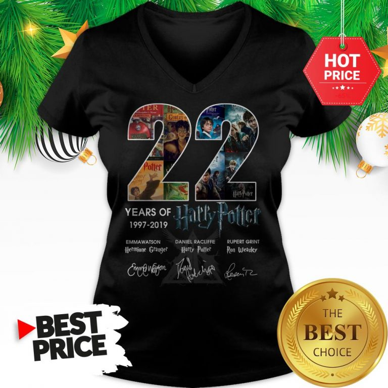 Official 22 Years Of 1997 2019 Harry Potter Thank You For The Memories V-Neck