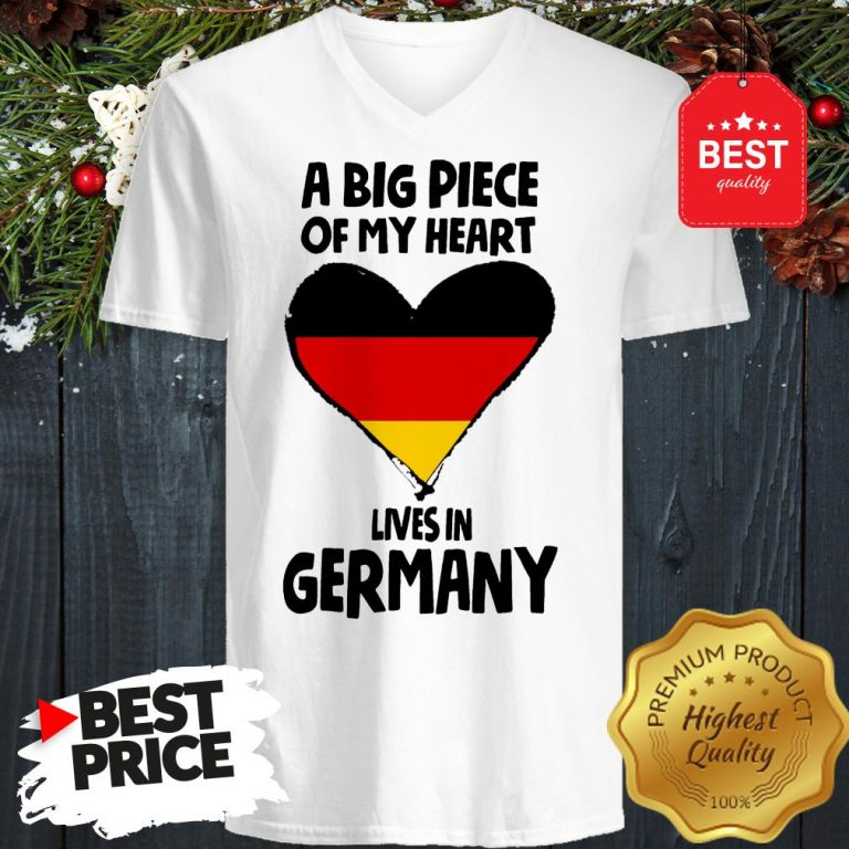Official A Big Piece Of My Heart Lives In Germany V-Neck
