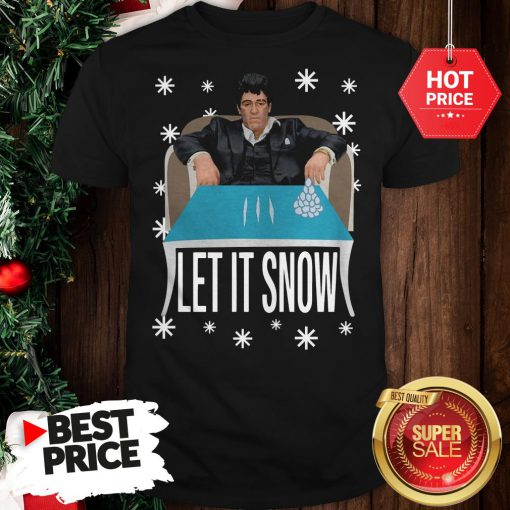 Official A Good Tony Montana Walmart Cocaine Santa Let It Snow Christmas Shirt