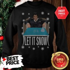 Official A Good Tony Montana Walmart Cocaine Santa Let It Snow Christmas Sweatshirt