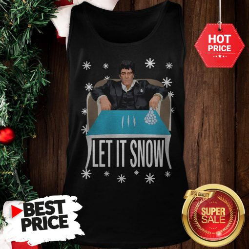 Official A Good Tony Montana Walmart Cocaine Santa Let It Snow Christmas Tank Top