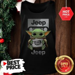 Official Baby Yoda Hug Jeep Tank Top