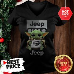 Official Baby Yoda Hug Jeep V-Neck