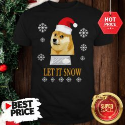Official Cute Santa Doge Let It Snow Christmas Shirt