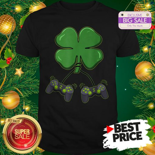 Official Four Leaf Clover Video Game Controllers Shirt