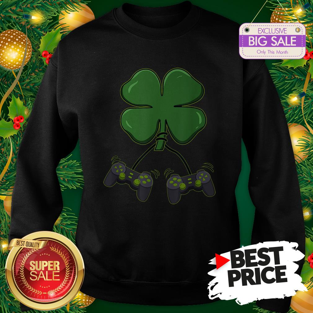 Official Four Leaf Clover Video Game Controllers Sweatshirt