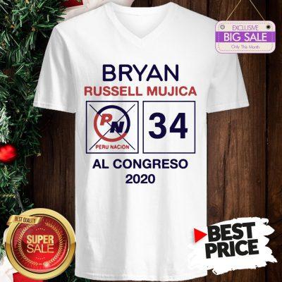Official Hot Bryan Russell Mujica Al Congreso 2020 V-Neck