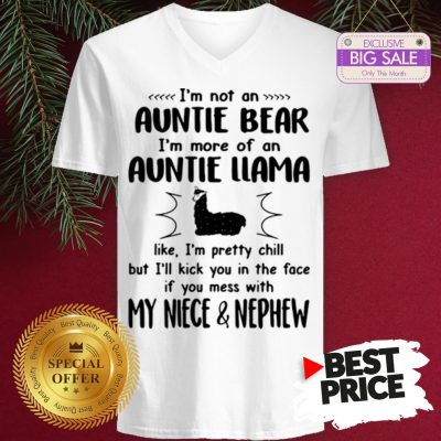 Official Hot I'm Not An Auntie Bear I'm More Of An Auntie Llama V-Neck