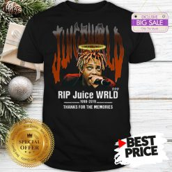Official Hot Rip Juice WRLD 1998 2019 Thanks For The Memories Shirt
