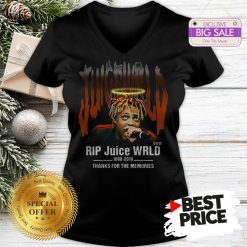 Official Hot Rip Juice WRLD 1998 2019 Thanks For The Memories V-Neck
