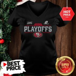Official Hot San Francisco 49ers 2019 100 NFL Playoffs V-Neck