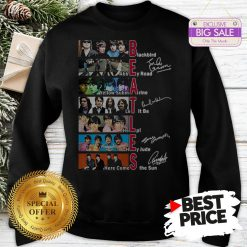 Official Hot The Beatles Blackbird Abbey Road Let It Be All Signature Sweatshirt