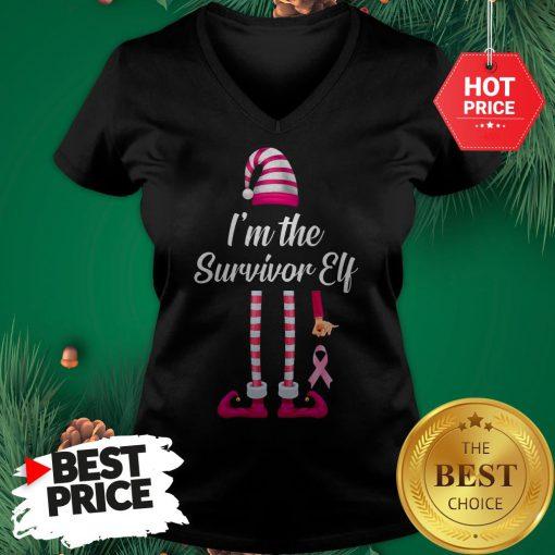 Official I'm The Survivor Elf V-Neck