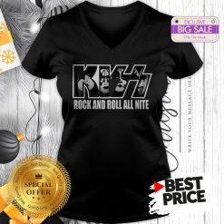Official KISS Rock And Roll All Nite V-Neck