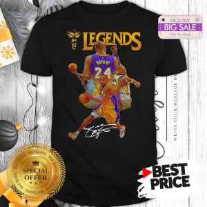 Official Kobe Bryant 24 Los Angeles Lakers Legends Signature Shirt