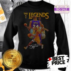 Official Kobe Bryant 24 Los Angeles Lakers Legends Signature Sweatshirt