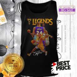 Official Kobe Bryant 24 Los Angeles Lakers Legends Signature Tank Top