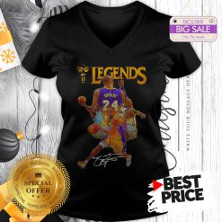 Official Kobe Bryant 24 Los Angeles Lakers Legends Signature V-Neck