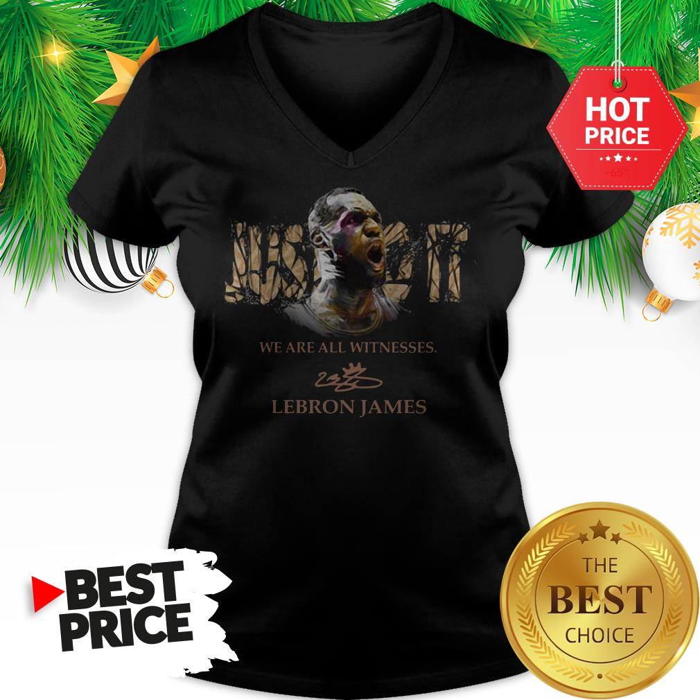 Official Lebron James Just Do It We Are All Witnesses Signature V-Neck