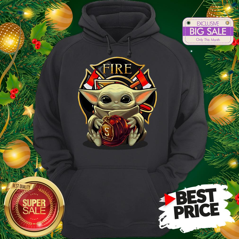 Official Like Baby Yoda Hug Firefighter Captain Hat Hoodie