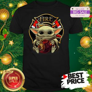 Official Like Baby Yoda Hug Firefighter Captain Hat Shirt