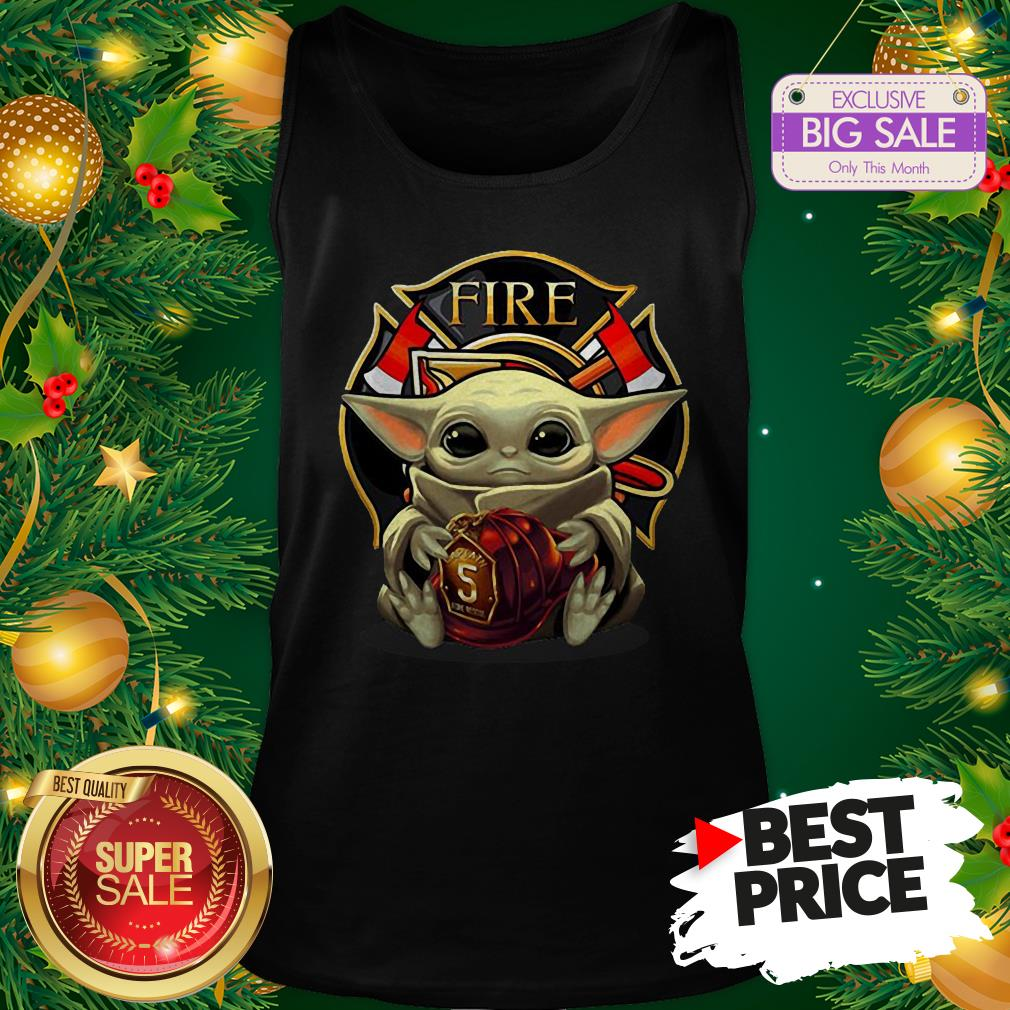 Official Like Baby Yoda Hug Firefighter Captain Hat Tank Top