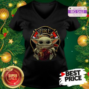 Official Like Baby Yoda Hug Firefighter Captain Hat V-Neck