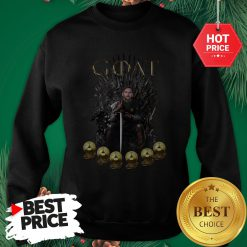 Official Lionel Messi 6 Golden Ball Goat Game Of Throne Signature Sweatshirt