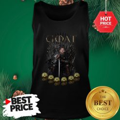 Official Lionel Messi 6 Golden Ball Goat Game Of Throne Signature Tank Top