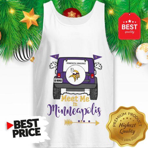 Official Minnesota Vikings Go Vikings Meet Me In Minneapolis Car Tank Top