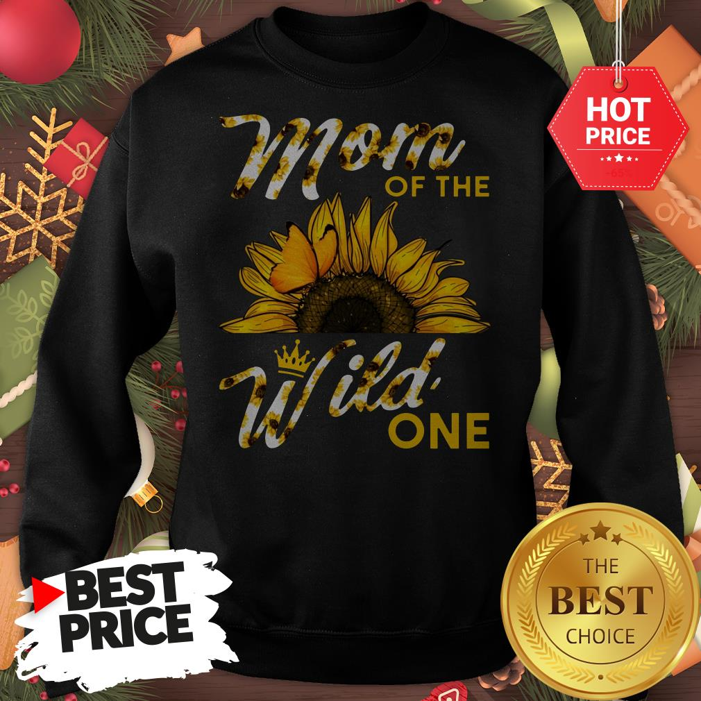 Official Mom Of The Wild One 1St Birthday Sunflower Outfit Sweatshirt
