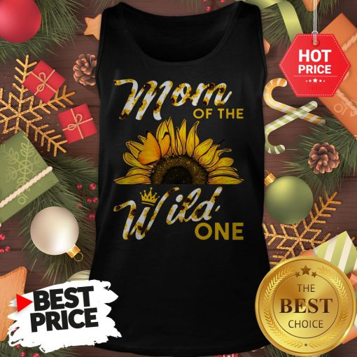 Official Mom Of The Wild One 1St Birthday Sunflower Outfit Tank Top