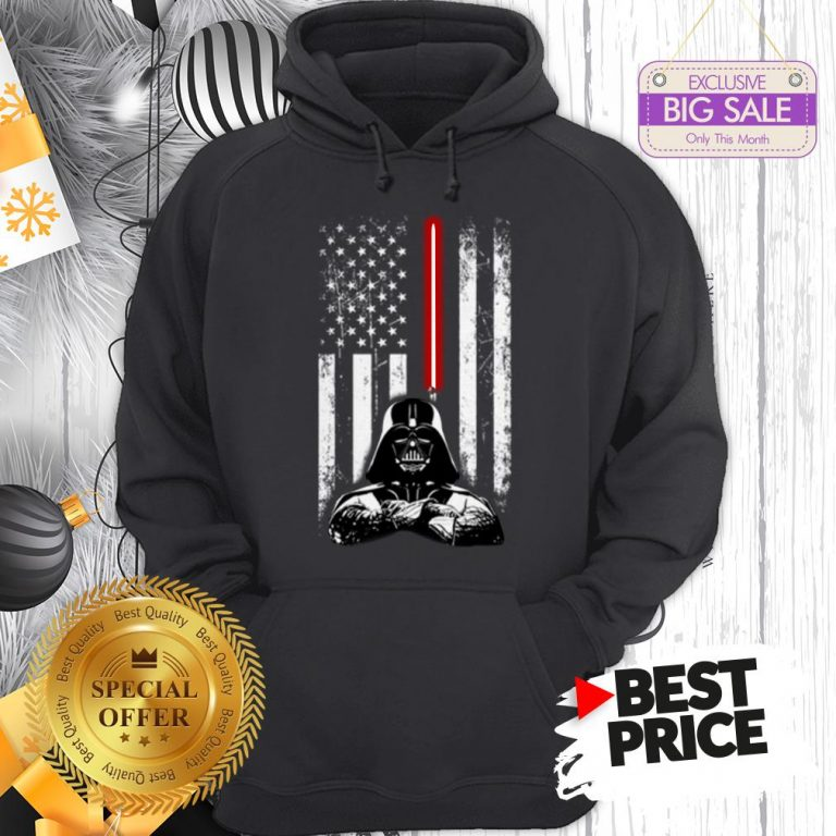Official Nice Darth Vader American Flag Star Wars Thin Blue Line Hoodie