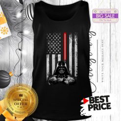 Official Nice Darth Vader American Flag Star Wars Thin Blue Line Tank Top