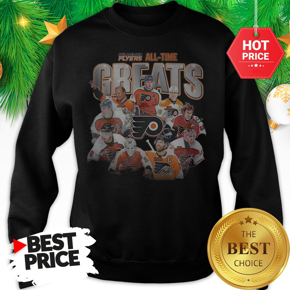 Official Philadelphia Flyers All-time Greats Signatures Sweatshirt