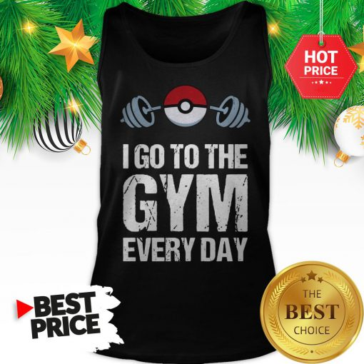 Official Pokemon I Go To The Gym Everyday Christmas Tank Top