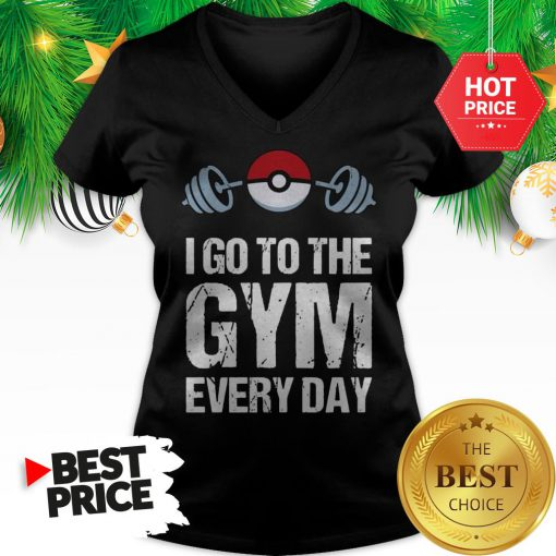 Official Pokemon I Go To The Gym Everyday Christmas V-Neck