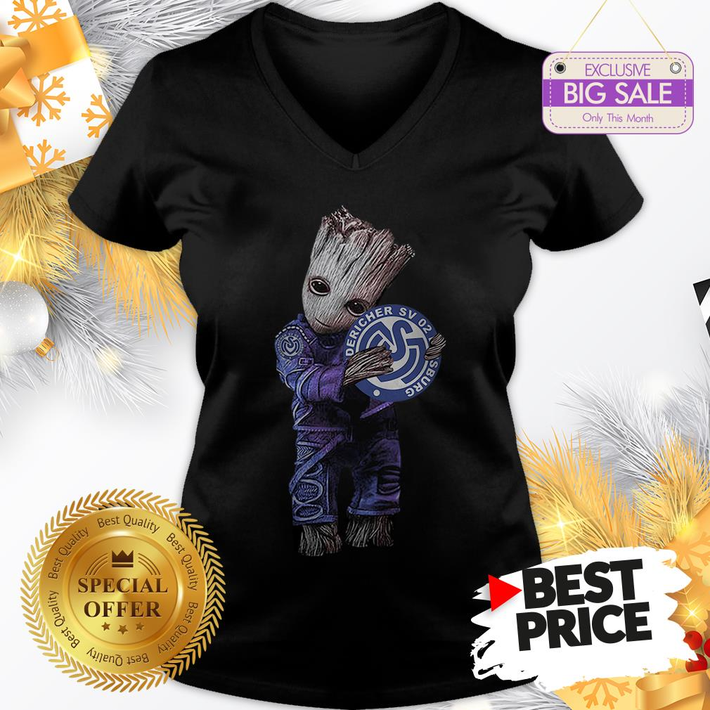 Official Pretty Baby Groot Hug MSV Duisburg V-Neck