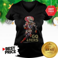Official San Francisco 49ers Go 49ers Signatures A Good V-Neck