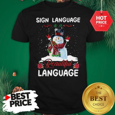 Official Sign Language Is A Beautiful Language Shirt