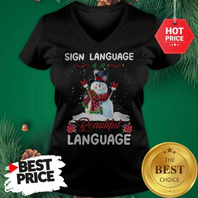 Official Sign Language Is A Beautiful Language V-Neck