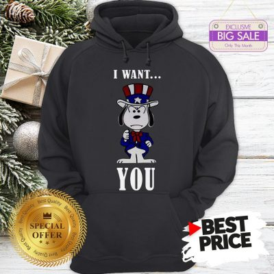 Official Snoopy American Flag I Want You Hoodie